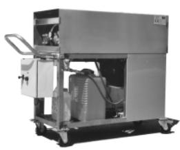 Hidrolimpiadora de agua caliente inoxidable para aplicacion industrial