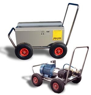 hidrolimpiadora electrica portatil con chasis de acero inoxidable