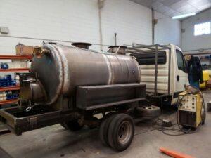 Detalle de fabricación de camiones de desatasco