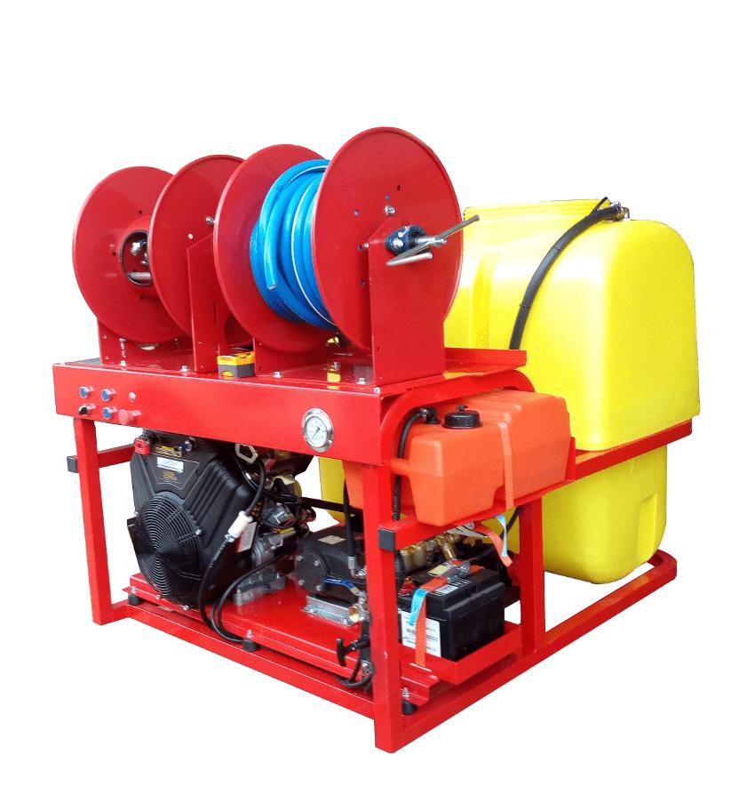 Maquinaria para desatascos y limpieza industrial con motor de gasolina