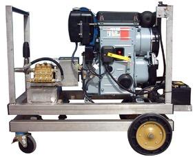 Hidrolimpiadora 200 Bares 1500 RPM Motor Hatz refrigerado por Aire. Limpiadora a presion diesel.