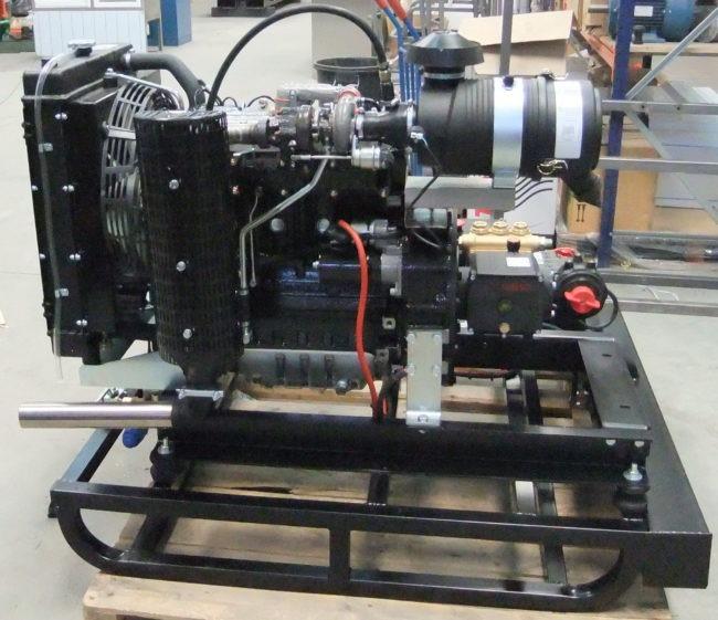 Hidrolimpiadora diesel con motor perkins