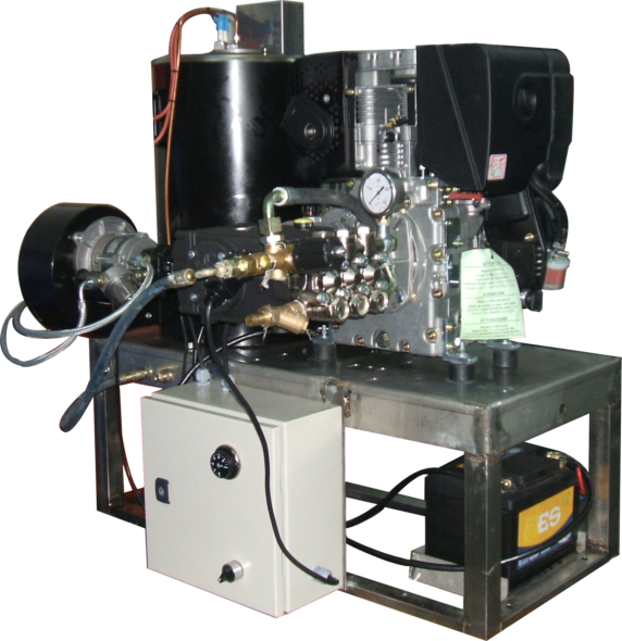 hidrolimpiadora diesel agua caliente