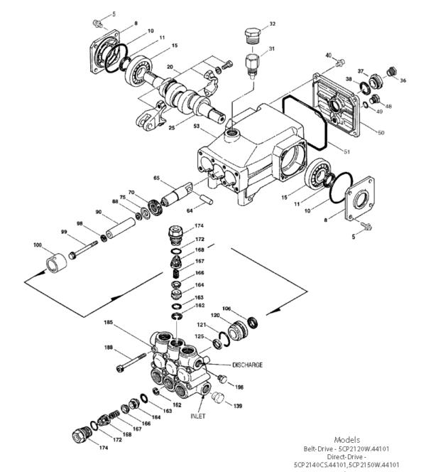 5CP2150W partes de recambio
